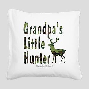 grandpas-little-hunter Square Canvas Pillow