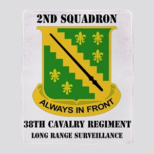 2-38 CAV RGT  WITH TEXT Throw Blanket
