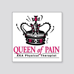 "queenofpain Square Sticker 3"" x 3"""
