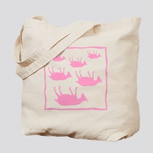 fainting goat_sq_Pink Tote Bag