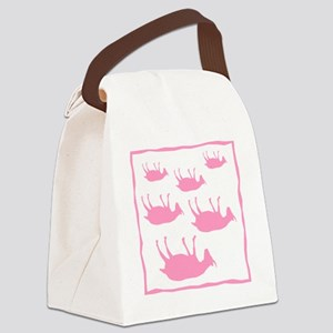 fainting goat_sq_Pink Canvas Lunch Bag