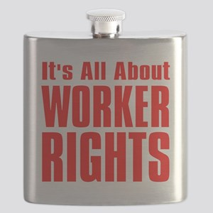 Its all about Worker Rights red  font Flask