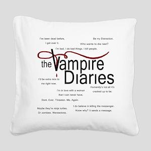vamp quotes dark Square Canvas Pillow