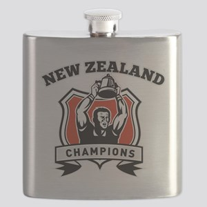 Rugby player New Zealand championship cup Flask