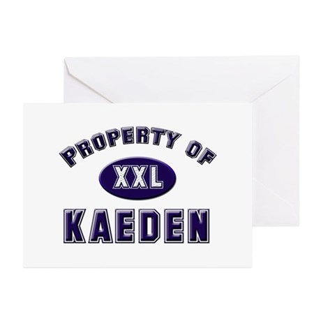 Property of kaeden Greeting Cards (Pk of 10)