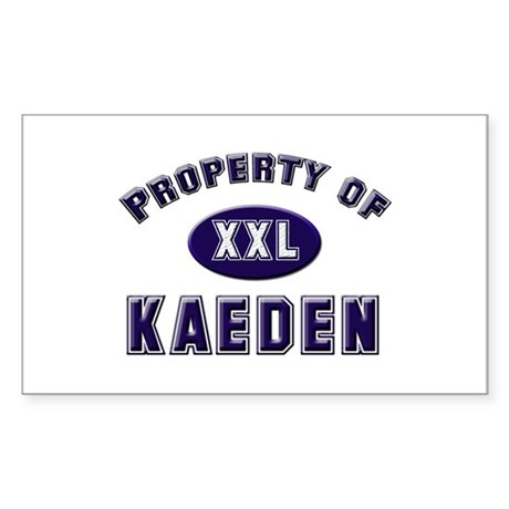 Property of kaeden Rectangle Sticker