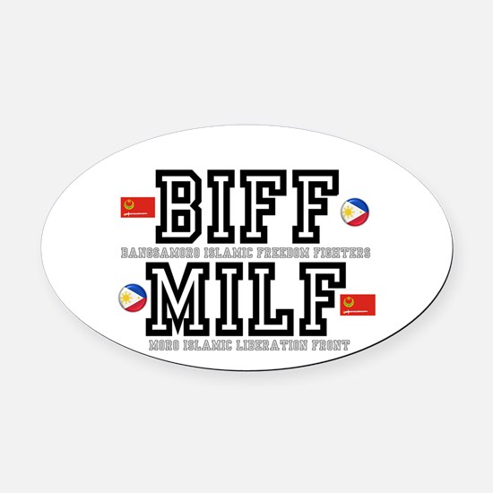 BIFF - MILF, PHILLIPINES Oval Car Magnet