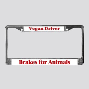 Brakes For Animals (Red) License Plate Frame