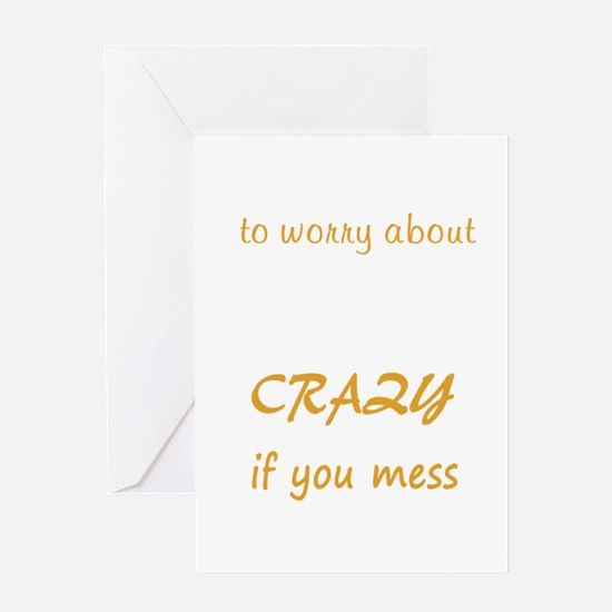 Crazy Pit Bull Mom Greeting Cards