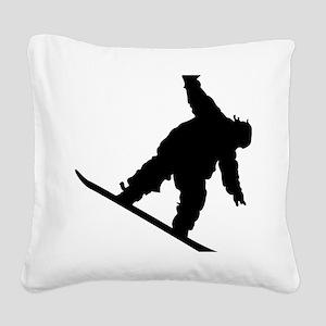 snowboarderB01 Square Canvas Pillow