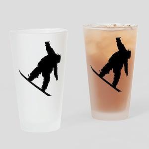 snowboarderB01 Drinking Glass