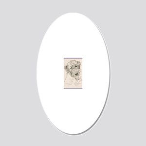 Irish_Wolfhound_KlineSq 20x12 Oval Wall Decal