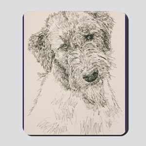 Irish_Wolfhound_KlineSq Mousepad