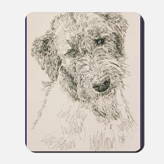 Irish_Wolfhound_KlineSq Mousepad