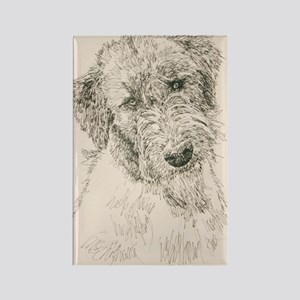 Irish_Wolfhound_KlineSq Rectangle Magnet