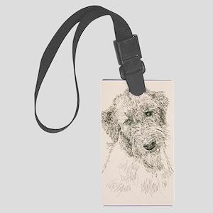Irish_Wolfhound_KlineSq Large Luggage Tag