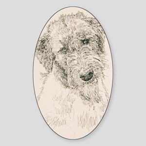 Irish_Wolfhound_KlineSq Sticker (Oval)