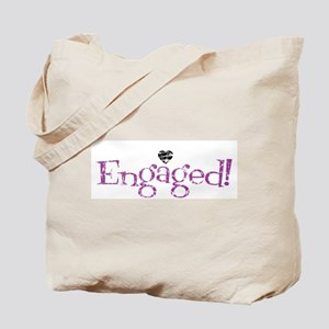 Retro Purple Engaged! Tote Bag