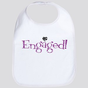 Retro Purple Engaged! Bib