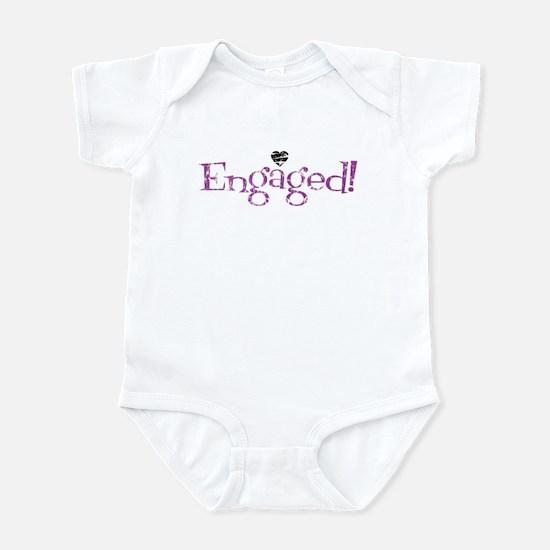 Retro Purple Engaged! Infant Bodysuit