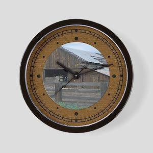 country barn Wall Clock