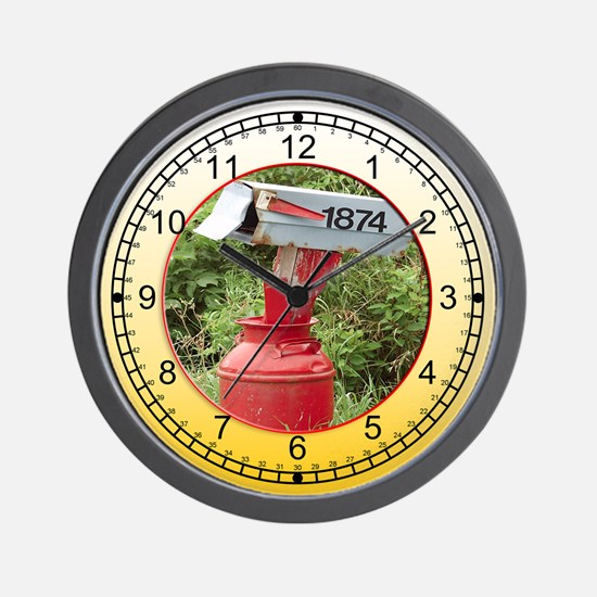 country mail box Wall Clock