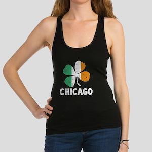 Chicago - dk Racerback Tank Top