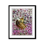 Bambina the Fawn in Flowers II Framed Panel Print