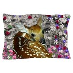 Bambina the Fawn in Flowers II Pillow Case