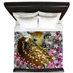 Bambina the Fawn in Flowers II King Duvet