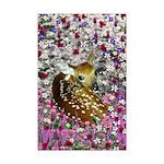 Bambina the Fawn in Flowers II Mini Poster Print