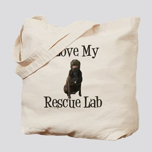 Love my rescue lab Tote Bag