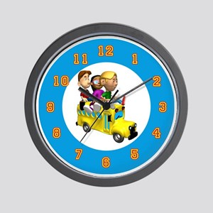 schoolbuswallclock Wall Clock