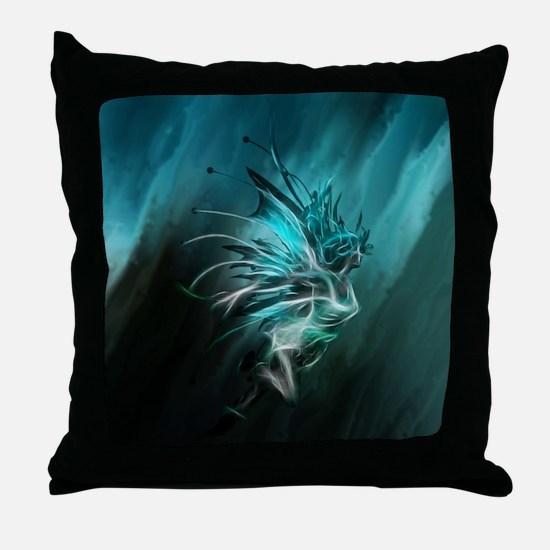 Fractal Water Throw Pillow