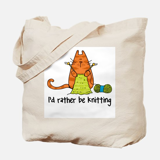 Rather be knitting Tote Bag