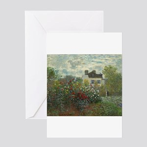 The Artist's Garden in Argenteuil ( Greeting Cards
