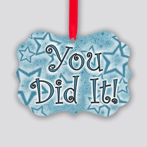 YOU DID IT CARDS Picture Ornament