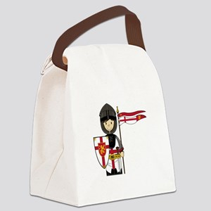 Knight Button 1 Canvas Lunch Bag