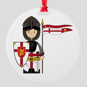 Knight Button 1 Round Ornament