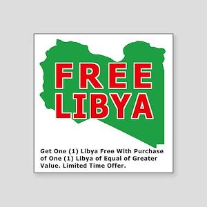 "freelibya Square Sticker 3"" x 3"""