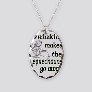 DrinkinLeprechauns Necklace Oval Charm
