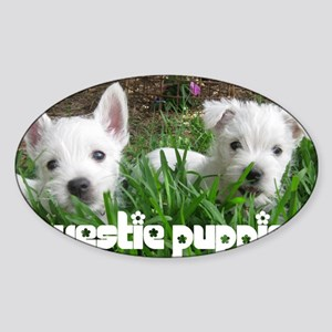 pup_calendarcover Sticker (Oval)