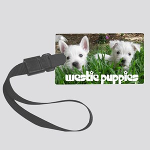 pup_calendarcover Large Luggage Tag