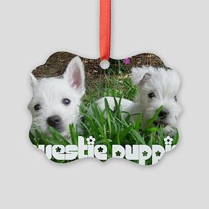 pup_calendarcover Picture Ornament