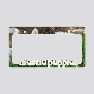 pup_calendarcover License Plate Holder