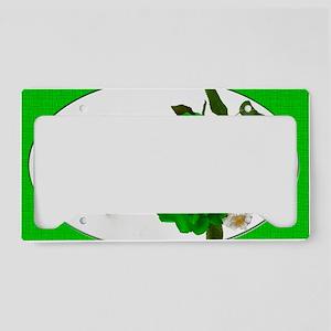 3GreenRoses_6X4 License Plate Holder