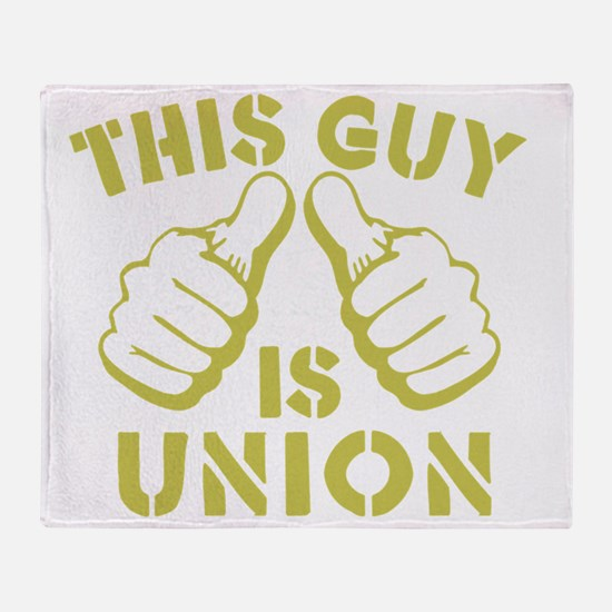 This GUy is Union-GD Throw Blanket