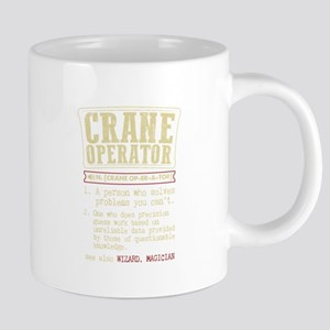 Crane Operator Funny Dictionary Term Mugs