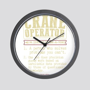 Crane Operator Funny Dictionary Term Wall Clock
