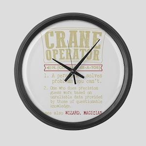Crane Operator Funny Dictionary T Large Wall Clock